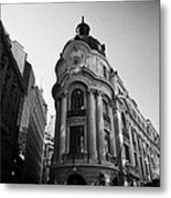 Santiago Stock Exchange Building Chile Metal Print