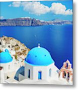 Santorini Island, Greece, Beautiful Metal Print