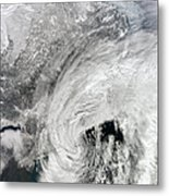 Satellite View Of A Large Noreaster Metal Print