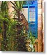 Savannah Window Impasto Metal Print