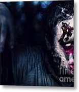 Scary Zombie Looking Gravely Ill. Monster Disease Metal Print