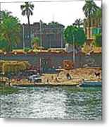 Scene Along Nile River Between Luxor And Qena-egypt  Metal Print