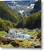 Scenic Valley In New Zealand Metal Print