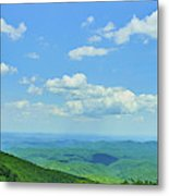 Scenic View Of Mountain Range, Blue Metal Print