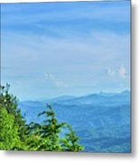 Scenic View Of Mountain Range Metal Print