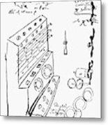 Schickard Calculator Metal Print
