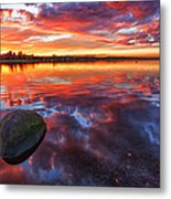 Scottish Loch At Sunset Metal Print by John Farnan