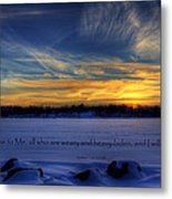 Scripture Photo Metal Print