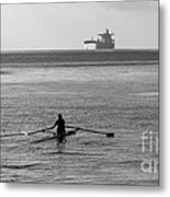 Sculling On The Bay Metal Print