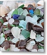 Sea Glass In Many Colors Metal Print