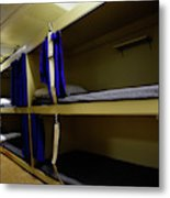 Seaman Lockers And Bunks Aboard Uss Metal Print