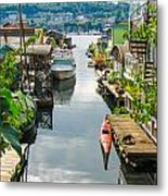 Seattle Houseboats Metal Print