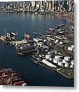 Seattle Skyline And South Industrial Area Metal Print
