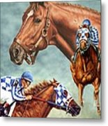 Secretariat - The Legend Metal Print by Thomas Allen Pauly