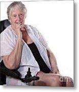 Senior Woman In Wheel Chair Metal Print