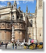 Seville Cathedral In The Old Town Metal Print