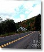 Shed In The Hills Metal Print
