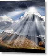 Shining Through Metal Print