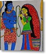 Shiv Parvati Metal Print
