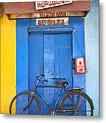 Shop On Street In Goa India Metal Print
