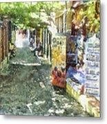 Shopping Street Metal Print