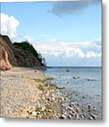 Shore Of Lake Erie Metal Print