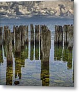 Shore Pilings At Fayette State Park Metal Print