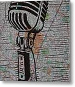 Shure 55s On Map Metal Print