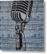 Shure 55s On Music Metal Print