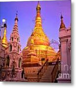 Shwedagon Paya - Yangoon Metal Print