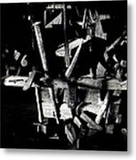 Sid Wilson's Tools For Building Stagecoaches Pick 'em Up Ranch Tombstone Arizona 1979 Metal Print
