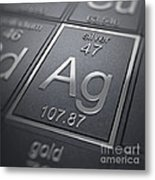 Silver Chemical Element Metal Print