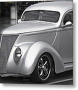 Silver Ford Metal Print