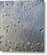 Silver Paint Texture Metal Print