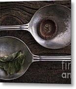 Silver Spoons Metal Print by Edward Fielding