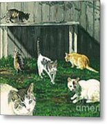 Six Cats Metal Print