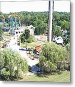 Six Flags America - 12121 Metal Print