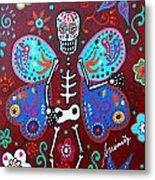 Skellyfly Day Of The Dead Metal Print