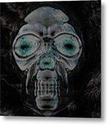 Skull In Negative Metal Print