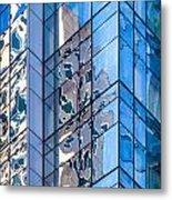 Sky Blue Glass Metal Print