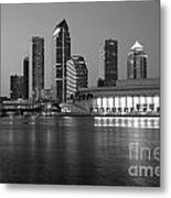 Skyline Of Tampa Along Waterfront Metal Print