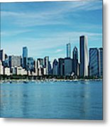Skylines At The Waterfront, Lake Metal Print