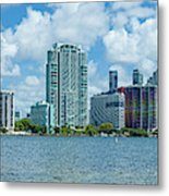 Skylines At The Waterfront, Miami Metal Print