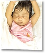 Sleeping Baby Metal Print