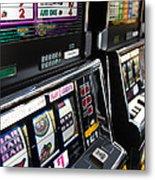 Slot Machines At An Airport, Mccarran Metal Print