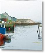 Boats In Peggy's Cove Metal Print
