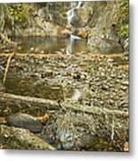 Smalls Falls In Autumn Western Maine Metal Print