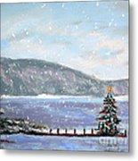 Smith Mountain Lake Christmas Metal Print