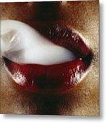 Smoking Metal Print