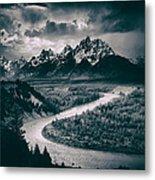 Snake River In The Tetons - 1930s Metal Print